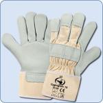 SCHWAN Handschuh aus Rindnarbenleder Cygnograin 10, grau/beige Gr. 10