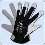 SCHWAN Nappaleder-Handschuh Cygnotop 10, schwarz/weiß Gr. 10