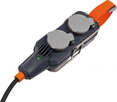 BRENNENSTUHL professionalLINE Powerblock mit Verlängerungsleitung IP 54 4-fach 15m schwarz H07RN-F 3G1,5